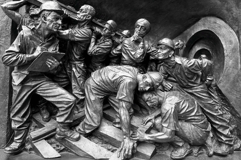 Minnesmonument över gruvarbetare